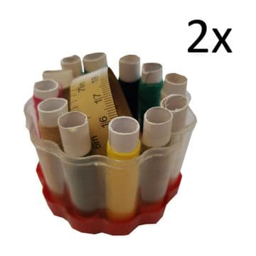 2 x SEWING KITS in CASE  needles cotton  thread travel sew kit tape sets